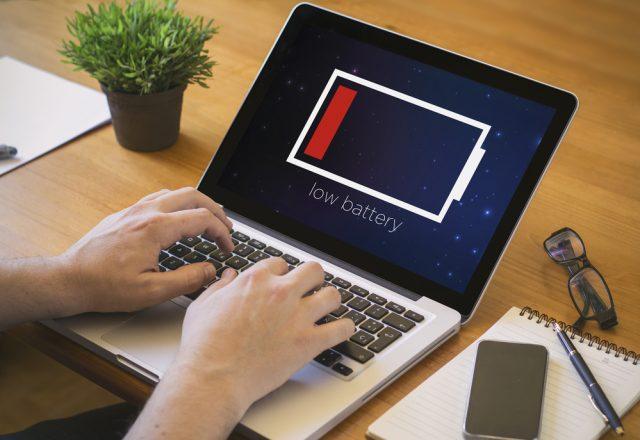 laptop baterie slaba